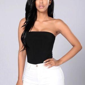 Fashion Nova Tube Strapless Bodysuit - L